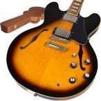 Burny バーニー SRSA65 BS(ブラウンサンバースト) エレキギター セミアコ 〔新品特価〕〔ハードケース付属〕