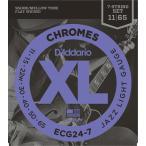 D'Addario ダダリオ ECG247 エレキギター弦 XL Chromes Flat Wound ジャズライトゲージ 011-065 〔7弦用〕
