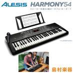 キーボード 電子ピアノ キーボード 電子ピアノ ALESIS アレシス Harmony54 54鍵盤 マイク 譜面台 ACアダプター付属 300音色