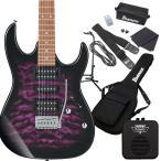 Gio Ibanez ジオ アイバニーズ GRX70QA TVT (Transparent Violet Sunburst) エレキギター 初心者セット ミニアンプ付き