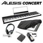 ALESIS アレシス Concert ペダル+ヘッドホン+キーカバーセット 電子ピアノ 88鍵盤 コンサート