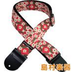 Daiking Corporation ダイキングコーポレーショ DaikingStrapRED FLOWER ウクレレストラップ 赤い花柄