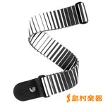 PLANETWAVE 0019954119942 Planet Waves/プラネットウェーブス P20S1508 Optical Stripes Art White ギターストラップ