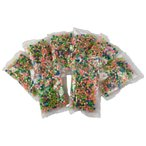 Yahoo!おもちゃとホビー SHOP SHIMATARO水でくっつく不思議なビーズ 夜光タイプ まとめ買いお得パック 4800個 マジカルボール 丸型3600個 石型1200個 補充パック 単色 7色 ミックスカラー ビーズ