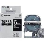 テプラ PRO用テープカートリッジ カラーラベル ビビッド 黒 SD6K [白文字 6mm×8m]