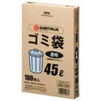 ジョインテックス ゴミ袋 LDD 透明 45L 100枚 N044J-45