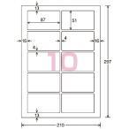 カラーLBP&コピー用耐水紙ラベル A4 20枚入 10面カット LBP-WP6910N