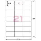 コクヨ  インクジェットプリンタ用ラベル リラベル 21面 100枚入 KJ-E80924N  ●お得な10パックセット