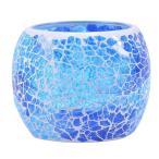 キャンドルホルダー キャンドルスタンド ボールカップ 手作り モザイクガラス製 ステンドグラス アンティーク 置物 インテリア 照明 ティー