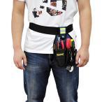 腰袋 片側 工具袋 工具差し 道具袋 ツールバッグ ウエストバッグ 電工工具袋 反射テープ付き 並行輸入品