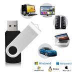 KEXIN USBメモリ・フラッシュドライブ 64GB USB 2.0 USBメモリースティック 360° 回転式 リ データ転送 Wind