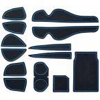 KINMEI(キンメイ) 新型ハリアー harrier 60系 青 専用設計 インテリア ドアポケット マット ドリンクホルダー 滑り