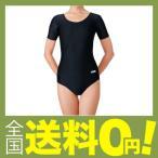 ササキ(SASAKI) 新体操 レディース 練習用 Uネック半袖レオタード ブラック(B) M 7014