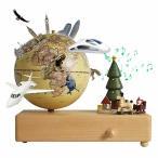 地球儀 子供 しゃべる地球儀 日本語 球径13cm 3Dで学べる 4WAY「ジングルベル」オルゴール 飾り品部分が動く LED