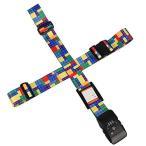 クロース(Kroeus)スーツケースベルト 十字 TSAロック付 2個セット ネームタグ トランクベルト 一字型ベルト