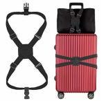 LOVAスーツケースベルト バッグとめるベルト ずり落ち防止 ゴム 調整可能 軽量 持ち便利 旅行 出張
