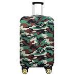 伸縮素材 スーツケース カバー 選べる 柄 バリエーション (72 グリーン迷彩 M) かわいい お洒落 おしゃれ オシ