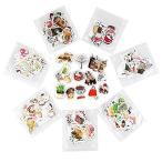 いろいろな食べ物の人物マスキングテープ 和紙テープ和紙小巻ロール ラッピング デコレーション 剥がしやす