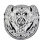 ヴァルクナットの三角形のシンボルバイキング北欧刺繍のバッジのアイロン付けまたは縫い付けるワッペン
