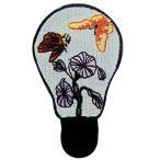 蝶とランプの花刺繍のバッジのアイロン付けまたは縫い付けるワッペン