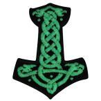 Mjolnir北欧のトールのハンマー暗闇で光るアイロン/縫い付け刺しゅうワッペン