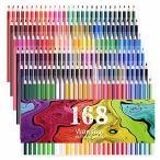 168色セットの中に蛍光ペン 8色、金属ペン 12色すぐに使える 塗り絵の本のためにデザインされて、アティスト