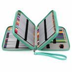 Sumnacon PUレザー色鉛筆ホルダー 120本入れ ペンシルホルダー 色鉛筆 収納ケース筆箱 シンプル 大容量 ペンケー