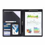 クリップボード 二つ折り ファイルバインダー A4 A5 カード名刺入れPUレザー ビジネスオフィス用品バインダー