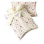 (moin moin) ラッピング ボックス 箱 袋 ピンク 小花柄 リトルフラワー リボン & タグ 付 幅10cm×高さ14cm×マチ2.8cm 5