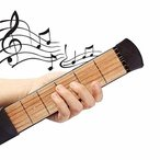 ギター 練習 ポケットギター 6フレット 初心者 便利 耐干渉 指配置運動 メトロノーム機能 ギター練習ツール