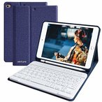 iPad mini5/ mini4キーボードケース mini 4/5対応キーボードカバー 着脱式キーボードスタンド機能付き アップルペン