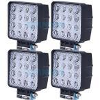 (スタンセン) Stansen LEDワークライト オフロード防水作業灯 CREE製 48W 16連10-30VDC対応(12V/24V兼用)4個セット
