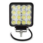Safego 48W LED 作業灯 16連LED ワークライト 汎用 12V-24V対応 狭角30度 角形 ハイパワー 角型 防水 スポットライト LED