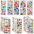 子供&幼児シールふわふわシールかわいい海外デザイン大量の 1200 個以上3Dテッカー 手帳日記 知育 褒美用 アニ