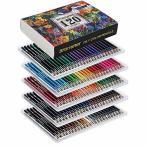 色鉛筆 120色 アート鉛筆セット 油性色ペン - Akura - 塗り絵 美術 描き用 スケッチ用 プレゼント 鉛筆削り付き