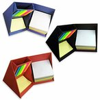 HAMILO 付箋ボックス 卓上付箋ボックス ペン立て スマホ立て機能付き ブックマーク用 メモ用 (3色セット)