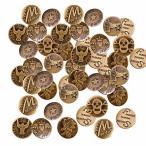 NUOMI 50ピース ジーンズボタン タックボタン スナップボタン ブロンズトーン 置換 ボタン 縫い 編み物 20mm、