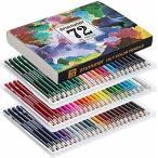 油性色鉛筆 72色 アート鉛筆セット 油性色ペン - Akura - 塗り絵 大人 子供 美術 描き用 スケッチ用 プレゼント