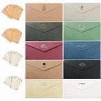 レターセット 封筒 20枚 便箋 32枚 おしゃれな シンプル かわいいシ アンティーク メッセージカード 誕生日の