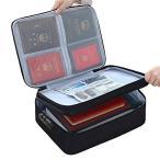 GEASTIG 書類収納バッグ 耐火バッグ 難燃加工 防火ファスナー タブレット収納可能 パスポートファイル 財産収