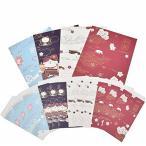 封筒 12枚 便箋 24枚 レターセット 4セット 4種類セット 花柄 メッセージカード うちあけて告白 手紙 お礼 人気