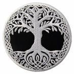 人生の木北欧の神話刺繍のバッジのアイロン付けまたは縫い付けるワッペン