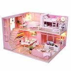 (リトルスワロー) パステル ピンク リアルでかわいい小物が一杯 ミニチュア ドール ハウス DIY 手作り 模型 キ