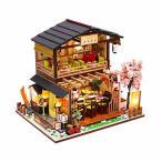 CPOWACE DIY ドールハウス 吉本の寿司店/Gibbon Sushi 手作りキット ミニチュアコレクション 初心者 (M2011)