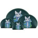 F.ZH コスメポーチ 化粧ポーチ トラベルポーチ トイレタリーバッグ メイクバッグ 可愛い 猫柄 花柄 洗面用具収
