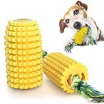 CEESC 犬の歯ブラシ噛むおもちゃ、犬のおもちゃのトウモロコシの臼歯のスティック咬傷に強い歯ブラシの犬の