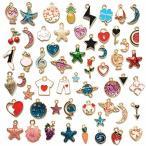 56個 金属チャーム ブレスレット用 アクセサリーパーツ DIY装飾用 手芸材料 工芸品 ネックレス ギフト