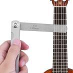 30枚 ギターゲージセット ギター 定規 測定ツール フレット/ロッカー/弦高さ測定 調整 多機能 コンパクト ギタ