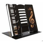 (アチスメル) 卓上譜面台 黒 折りたたみ 軽量 楽譜スタンド 楽譜立て 書見台 レシピスタンド 譜面立て 譜面台