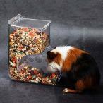 Gifty 自動給餌器 ハムスター 餌入れ アクリル 小動物 エサ 食器 固定式 ハリネズミ フード 餌やり リス モルモ